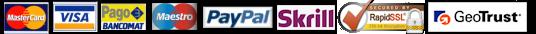 sistema sicuro di pagamenti, visa, mastercard, maestro, pagobancomat, paypal, posteitaliane